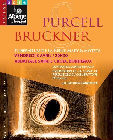 Purcell et Bruckner en concert par Arpège