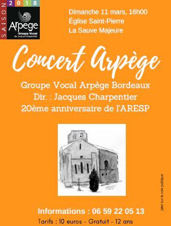 Concert Arpège La Sauve