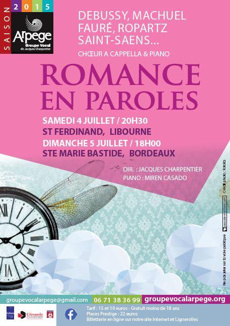 Flyer Concert Arpège Musique Française